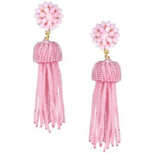 Lisi Lerch light pink tassel earrings cotton candy